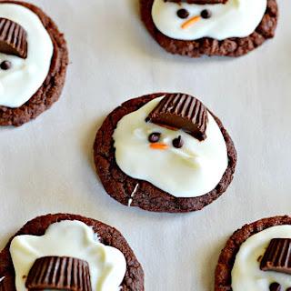 Melting Snowmen {Chocolate Mint} Cookies