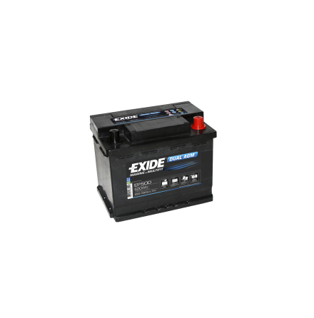 Tudor/Exide Dual AGM batteri 12V/60Ah