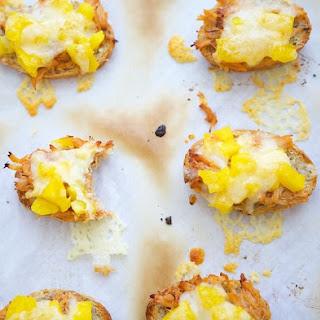 Mango Cheddar Pork Crostini.