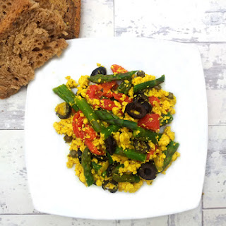 Asparagus Tofu Scramble [Vegan] Recipe