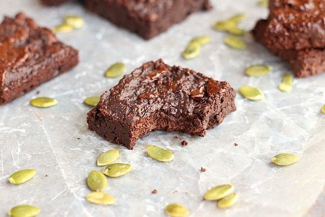 Small Batch Pumpkin Seed Flour Brownies (Grain-Free, Nut-Free, Low Sugar)