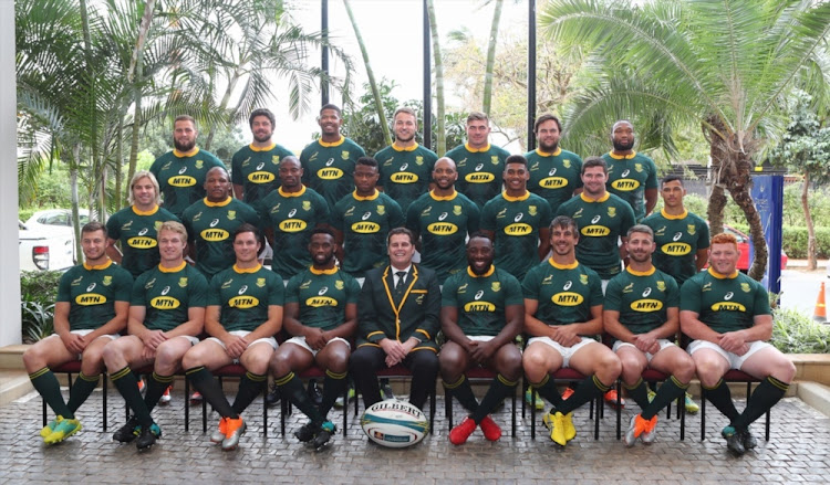 The Springboks during the South African national rugby team captains media conference and team photo at Umhlanga on August 17 2018 in Durban. Picture: ANESH DEBIKY/GALLO IMAGES