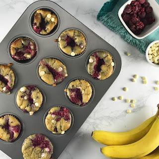 White Chocolate-Raspberry Blender Muffins.