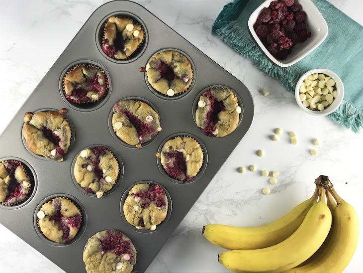 White Chocolate-Raspberry Blender Muffins