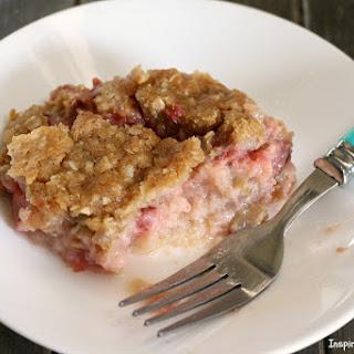 Strawberry Rhubarb Custard Dessert Recipe