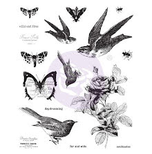 Prima Finnabair Cling Stamps 6X7.5 - Wild & Free