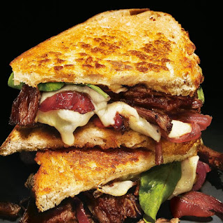 Grilled Cheese and Short Rib Sandwiches with Pickled Caramelized Onions and Arugula Recipe
