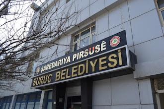Photo: In front of mayor's office in Suruç