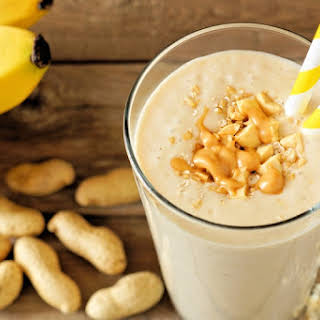 Peanut Butter and Banana Smoothie.