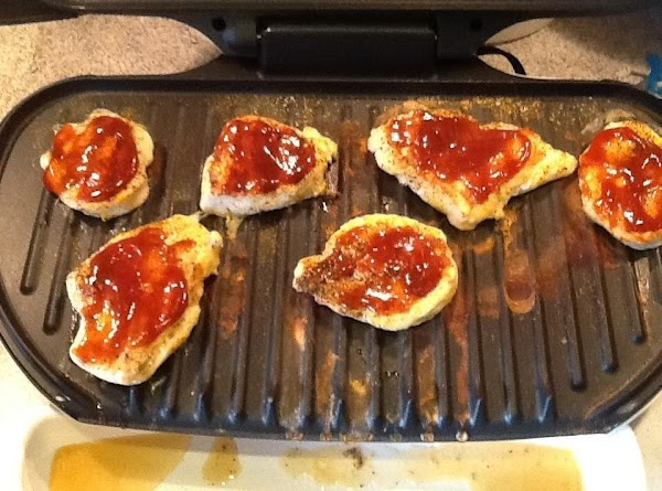 Once done, top with BBQ sauce