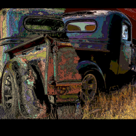 Kevin's UT-1926D by Benito Flores Jr - Digital Art Things ( chevy, digital, art, truck, texas, 1936, killeen, photography )