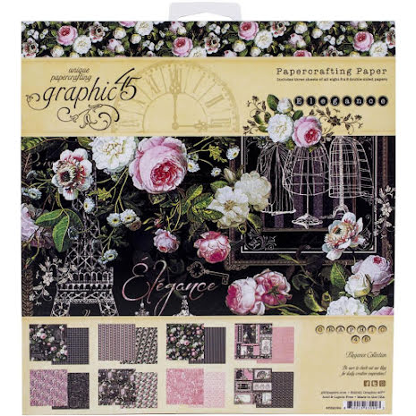 Graphic 45 Double-Sided Paper Pad 8X8 - Elegance