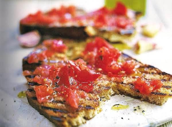 Traditional Peasant Tomato And Garlic Bruschetta Recipe
