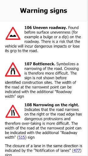 Swiss Traffic Signs ApkUpdate 1