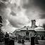 Durisdeer Church by James Johnstone - Black & White Buildings & Architecture ( black & white, cemetary, durisdeer, church, gravestones, headstone,  )