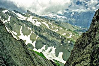 Photo: T-23-2.3 Abstieg über Geröll vom Corne du Taureau  Toureninfos:  http://pagewizz.com/liste-wanderungen-und-ausfluege-in-hochsavoyen-frankreich/