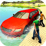 Beach Water Surfer Limousine Car Driving Simulator Icon