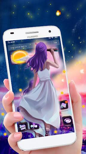 Dream Girl 3D Glass Tech Theme ud83dudc83 screenshots 1