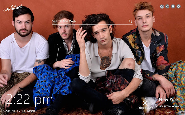 The 1975 HD Wallpapers Pop Rock New Tab Theme