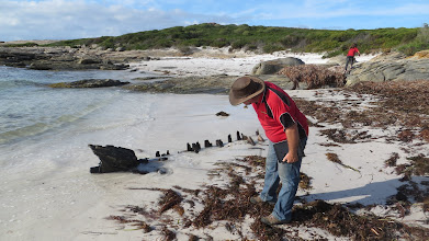 Photo: Inspector Cyclone givin the wreck a NO PASS ...
