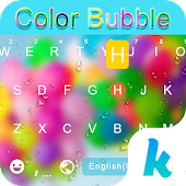 Color Bubble Keyboard Theme