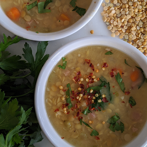 Lentil and Smoked Ham Soup (Serves 2)