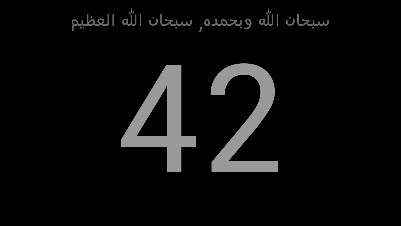 ‫عداد التسبيح - Tasbeeh Counter‬‎- screenshot