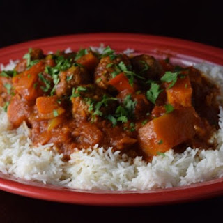 North African Turkey Meatball and Butternut Squash Tagine