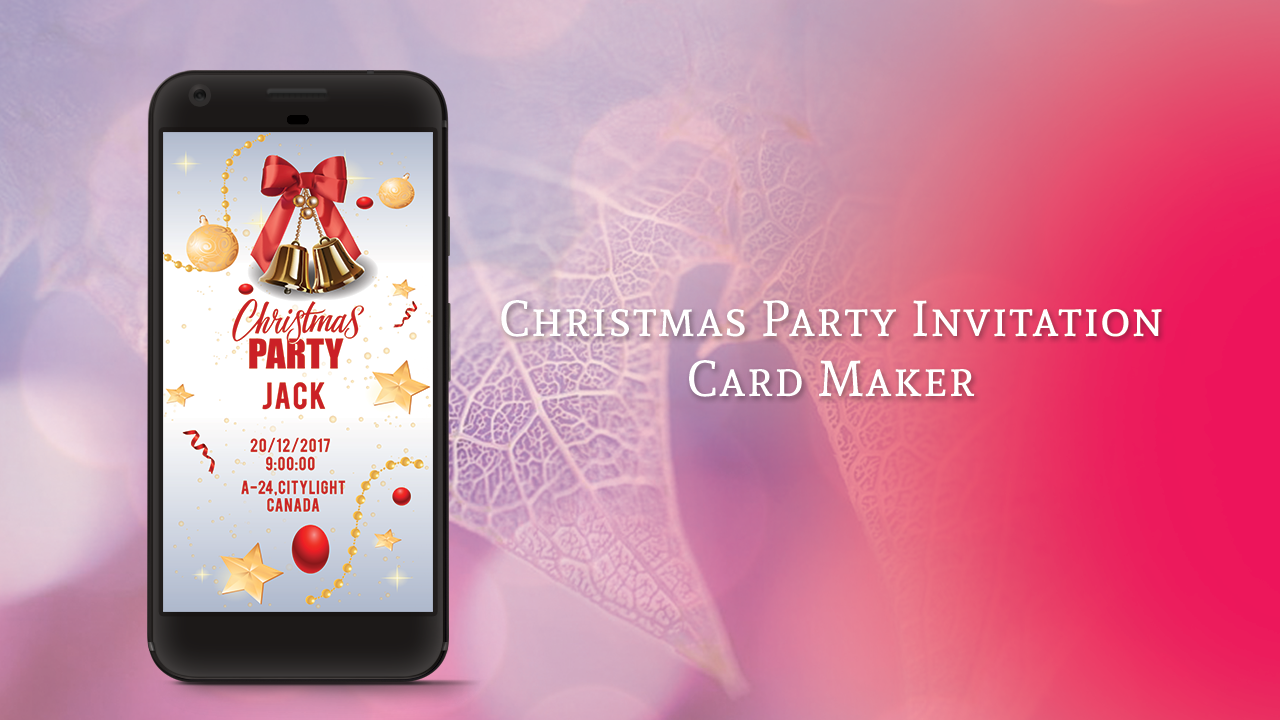 Christmas Party Invitation Card Maker - Android Apps on Google Play