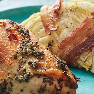Rosemary-Garlic Chicken with Cabbage.