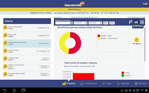 Bancolombia App- screenshot thumbnail