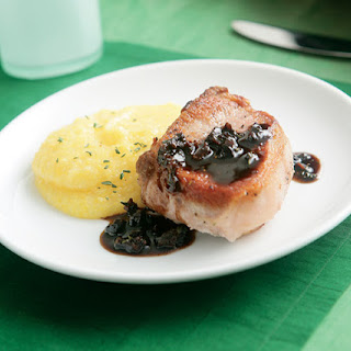 Sear-Roasted Pork Chops with Balsamic-Fig Sauce