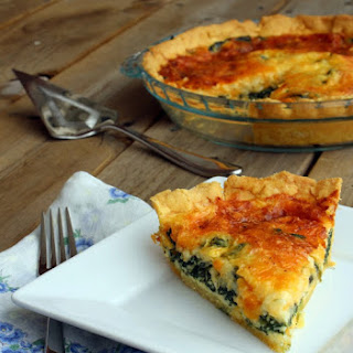 Spinach Quiche with a Cornmeal Crust