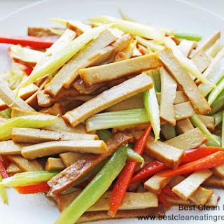 Clean Eating Recipe – Stir Fry Dry Tofu and Celery