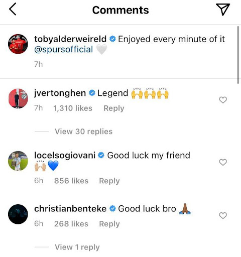Jan Vertonghen gives one-word reaction to Tuesday Tottenham announcement
