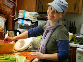 Photo: Michelle Mall helps with lunch
