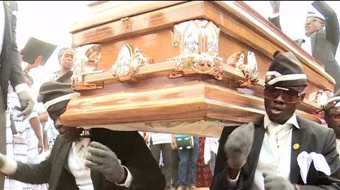 Pallbearers are lifting the mood at funerals in Ghana with flamboyant coffin-carrying dances. Families are increasingly paying for their services to send their loved ones off in style.