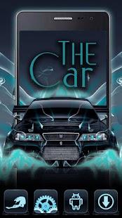 Neon car Theme - náhled