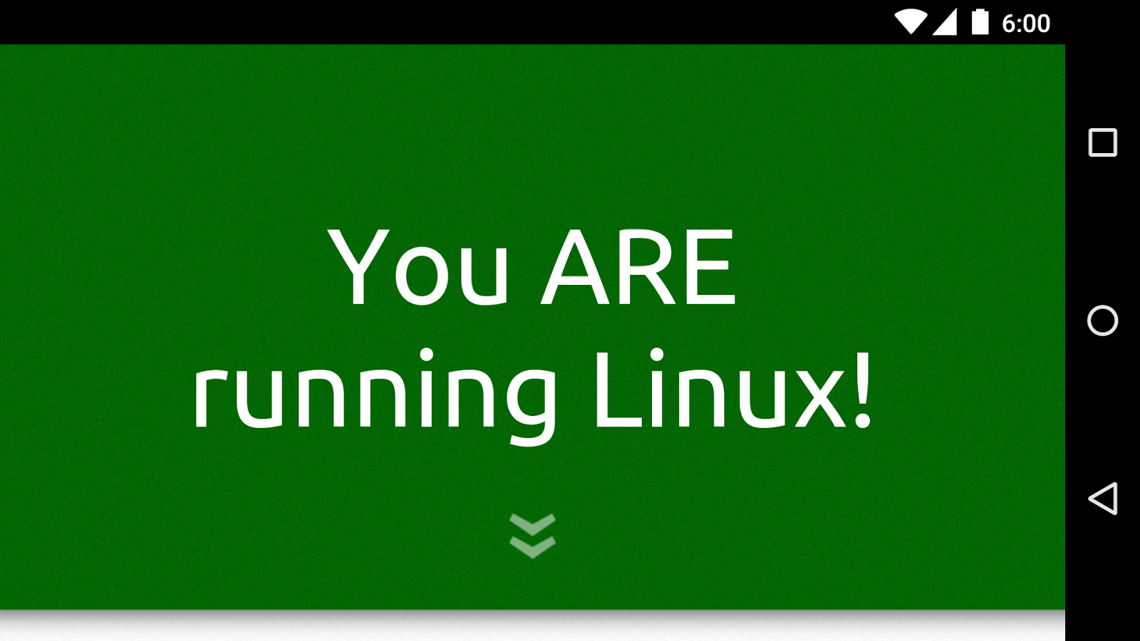 Am I Running Linux?- screenshot