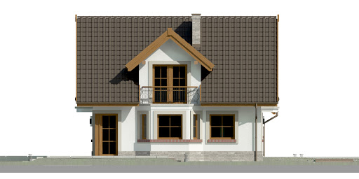 Dom przy Cyprysowej 15 P - Elewacja lewa