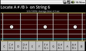 Screenshot of RR Guitar Fretboard Trainer