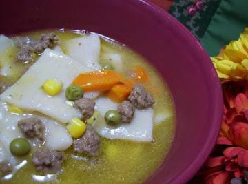 Seasoned Ground Beef And Dumplings With Veggies Recipe