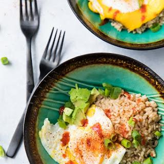 Easy Fried Egg, Rice, Avocado Bowl Recipe