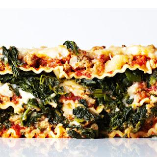 Turkey Bolognese Lasagna.