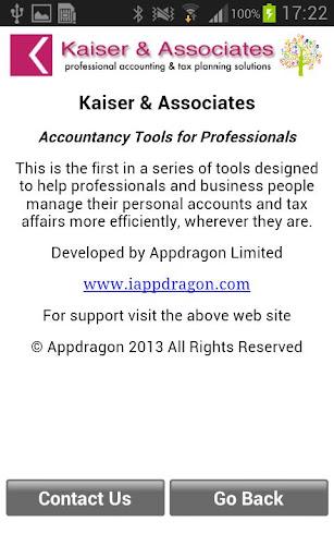 Kaiser Accounting Tools 1.0 screenshot 4