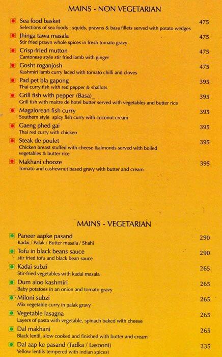 Flavours Radha Hometel menu 6