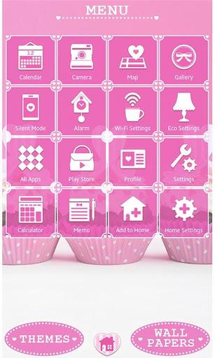 Cute Theme Pink Heart Cupcakes 1.0.0 Windows u7528 2