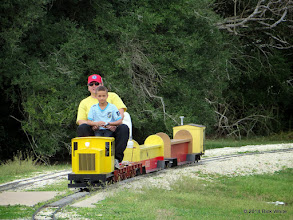 Photo: Craig Thomasson with nephew at the controls     HALS Chili Fest Meet 2014-0301 RPW