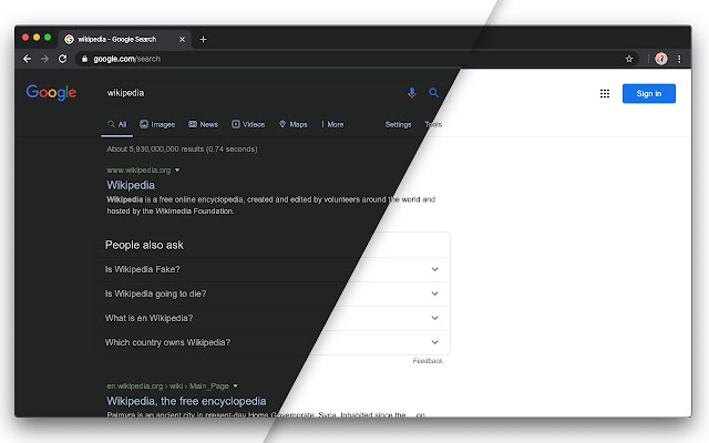 Dark Theme for Google™