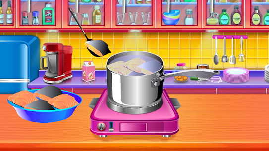 Make Salmon Fish Cakes Recipe – Cooking game 1.1 Mod + Data Download 3